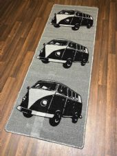 NEW NON SLIP TOP QUALITY RUNNER 66X185CM APROX 6FTX2FT3 CAMPER DESIGN GREY/BLACK